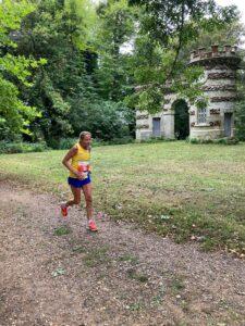 Heather Khoshnevis in the New Forest Marathon