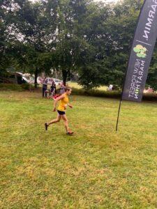 Helen Ambrosen in the New Forest Marathon