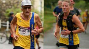 Ken Parradine and Estelle Slatford in the Winchester Half Marathon