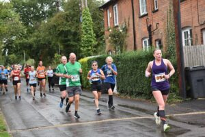 Nikki Whittaker in action in the Lordshill 10k
