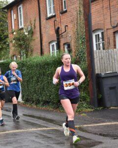Nikki Whittaker in the Lordshill 10k
