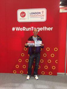 Rich Brawn picks up London Marathon number