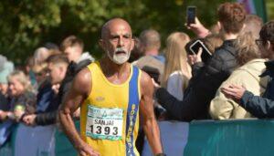 Sanjai Sharma in the Chester Marathon