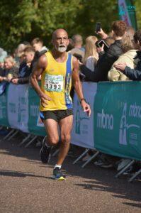 Sanjai Sharma going well in the Chester Marathon