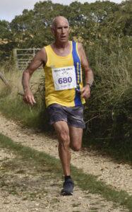 Simon Hunt in action in the Black Hill 10k