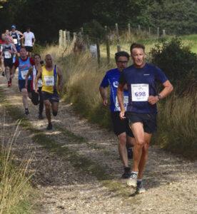Simon Hunt heads down the track