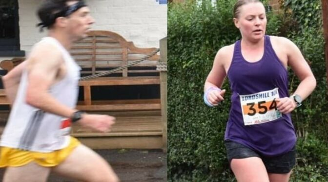 Rob McTaggart and Nikki Whittaker in the Lordshill 10k