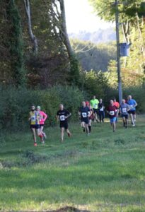 Trev Elkins leads in the Race on the Chase 10k