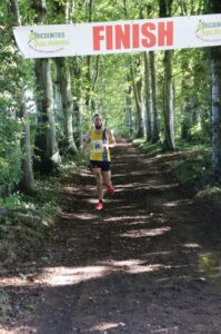 Trev heads down the finishing straight