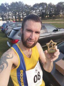 Trev Elkins with trophy